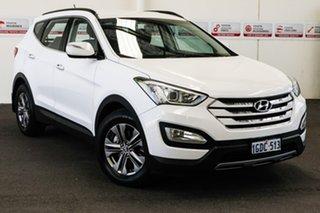 2014 Hyundai Santa Fe DM MY15 Active CRDi (4x4) White 6 Speed Automatic Wagon.
