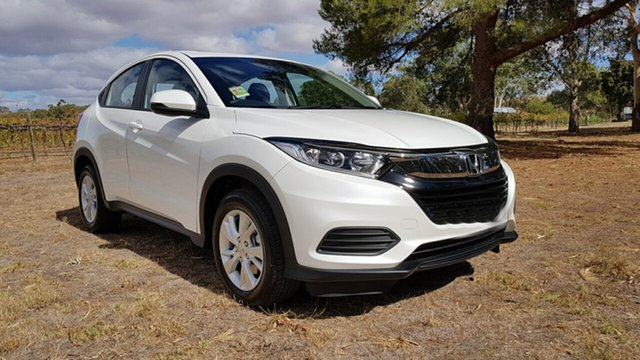 Demo Honda HR-V MY21 VTi Tanunda, 2020 Honda HR-V MY21 VTi Platinum White 1 Speed Automatic Hatchback