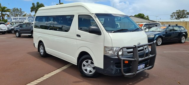 Used Toyota HiAce KDH223R MY08 Commuter High Roof Super LWB East Bunbury, 2008 Toyota HiAce KDH223R MY08 Commuter High Roof Super LWB 5 Speed Manual Bus