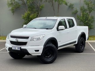 2014 Holden Colorado RG MY14 LX Crew Cab 4x2 White 6 Speed Manual Utility.