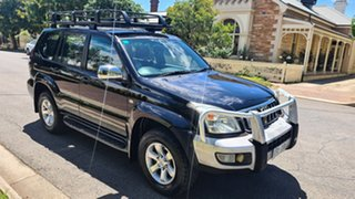 2004 Toyota Landcruiser Prado KZJ120R GXL Black 5 Speed Manual Wagon.
