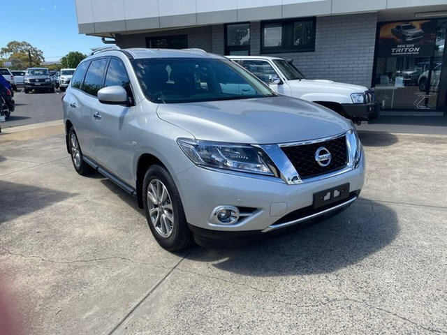 Used Nissan Pathfinder R52 MY16 ST X-tronic 4WD Hillcrest, 2016 Nissan Pathfinder R52 MY16 ST X-tronic 4WD Silver 1 Speed Constant Variable Wagon
