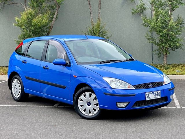 Used Ford Focus LR MY2003 CL Templestowe, 2003 Ford Focus LR MY2003 CL Blue 4 Speed Automatic Hatchback