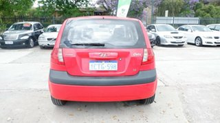 2008 Hyundai Getz TB MY07 SX Red 4 Speed Automatic Hatchback