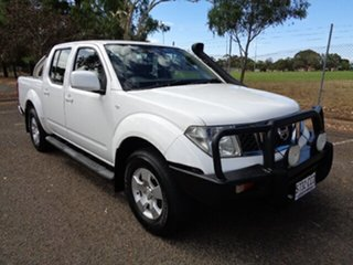 2011 Nissan Navara D40 ST White 6 Speed Manual Utility.