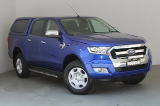 2016 Ford Ranger PX MkII XLT Double Cab 4x2 Hi-Rider Blue 6 Speed Sports Automatic Utility.