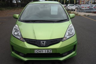 2012 Honda Jazz GE MY12 VTi Green 5 Speed Automatic Hatchback.