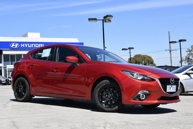 Used Mazda 3 BM5438 SP25 SKYACTIV-Drive GT Ferntree Gully, 2014 Mazda 3 BM5438 SP25 SKYACTIV-Drive GT Red/Black 6 Speed Sports Automatic Hatchback