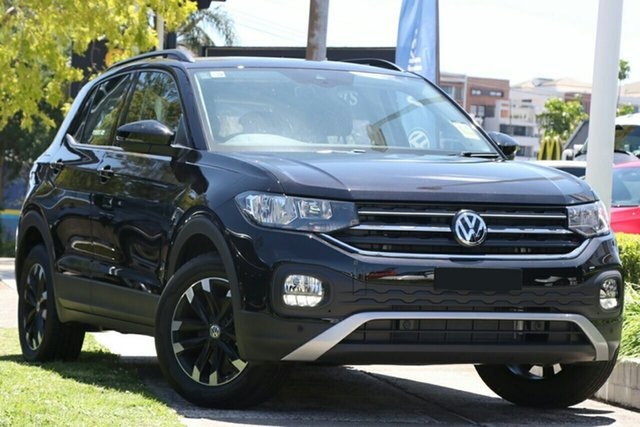 New Volkswagen T-Cross C1 MY21 85TSI DSG FWD Life Epsom, 2021 Volkswagen T-Cross C1 MY21 85TSI DSG FWD Life Deep Black 7 Speed Sports Automatic Dual Clutch