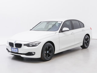 2014 BMW 316i F30 MY14 White 8 Speed Automatic Sedan.