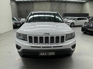 2013 Jeep Compass MK MY14 Limited White 6 Speed Sports Automatic Wagon.