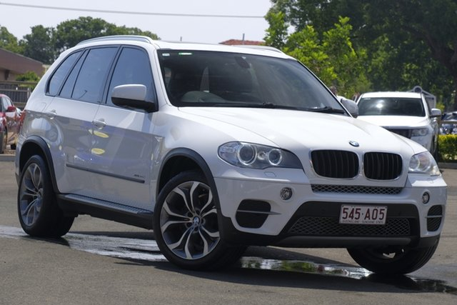Used BMW X5 E70 MY12 xDrive30d Steptronic Toowoomba, 2011 BMW X5 E70 MY12 xDrive30d Steptronic White 8 Speed Sports Automatic Wagon