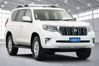 2019 Toyota Landcruiser Prado GDJ150R GXL White 6 Speed Sports Automatic Wagon.