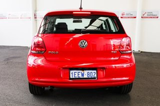 2013 Volkswagen Polo 6R MY13 77 TSI Comfortline Red 7 Speed Auto Direct Shift Hatchback