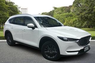 2020 Mazda CX-8 KG2WLA Touring SKYACTIV-Drive FWD White Pearl 6 Speed Sports Automatic Wagon.