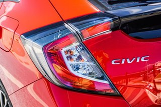 2017 Honda Civic 10th Gen MY17 VTi Red 1 Speed Constant Variable Hatchback