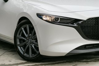 2020 Mazda 3 BP2H7A G20 SKYACTIV-Drive Evolve Snowflake White Pearl 6 Speed Sports Automatic