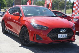 2019 Hyundai Veloster JS MY20 Turbo Coupe D-CT Ignite Flame 7 Speed Sports Automatic Dual Clutch