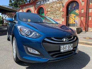 2014 Hyundai i30 GD2 MY14 Trophy Dazzling Blue 6 Speed Sports Automatic Hatchback.