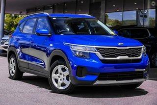 2020 Kia Seltos SP2 MY21 S 2WD Blue 1 Speed Constant Variable Wagon.