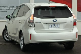 2013 Toyota Prius v ZVW40R Pearl White 1 Speed Constant Variable Wagon Hybrid.