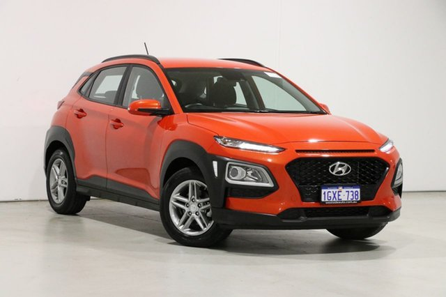 Used Hyundai Kona OS.2 MY19 Active (FWD) Bentley, 2019 Hyundai Kona OS.2 MY19 Active (FWD) Orange 6 Speed Automatic Wagon
