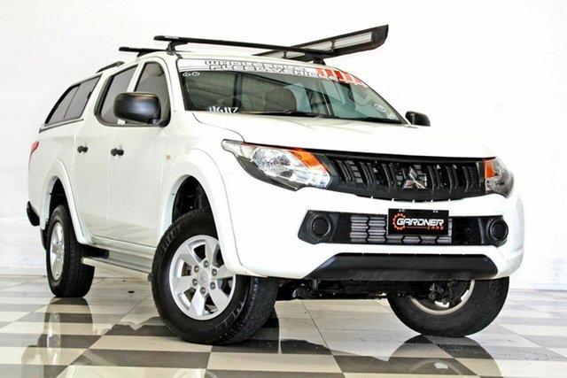 Used Mitsubishi Triton MQ MY18 GLX Plus (4x4) Burleigh Heads, 2017 Mitsubishi Triton MQ MY18 GLX Plus (4x4) White 6 Speed Manual Dual Cab Utility