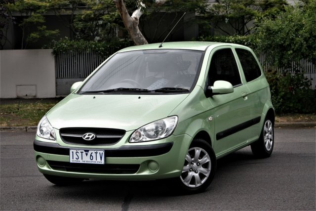 Used Hyundai Getz TB MY09 SX Cheltenham, 2010 Hyundai Getz TB MY09 SX Green 5 Speed Manual Hatchback