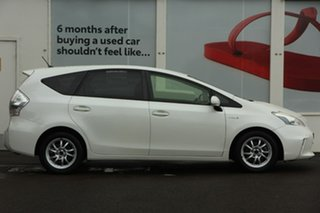 2013 Toyota Prius v ZVW40R Pearl White 1 Speed Constant Variable Wagon Hybrid
