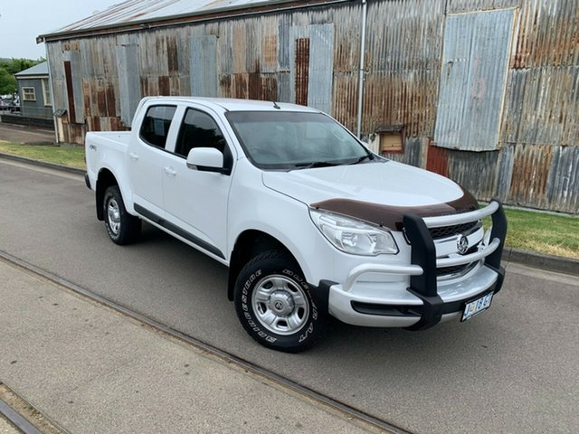 Used Holden Colorado RG MY16 LS Crew Cab Launceston, 2016 Holden Colorado RG MY16 LS Crew Cab White 6 Speed Sports Automatic Utility