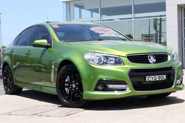 Used Holden Commodore VF MY15 SS V Redline Liverpool, 2015 Holden Commodore VF MY15 SS V Redline Jungle Green 6 Speed Sports Automatic Sedan
