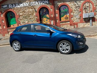 2014 Hyundai i30 GD2 MY14 Trophy Dazzling Blue 6 Speed Sports Automatic Hatchback.
