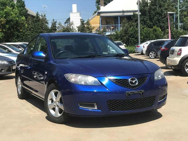 Used Mazda 3 BK Maxx Toowoomba, 2006 Mazda 3 BK Maxx Blue 5 Speed Manual Sedan