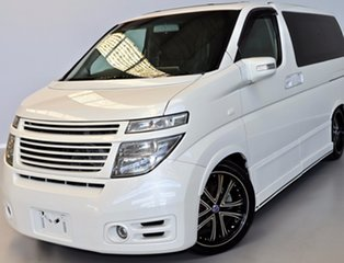 2003 Nissan Elgrand E51 Rider White 5 Speed Automatic Wagon