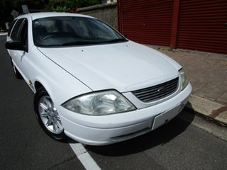 2001 Ford Falcon AUII Futura White 4 Speed Automatic Wagon.