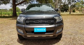 2015 Ford Ranger PX Wildtrak Double Cab Metropolitan Grey/leather 6 Speed Sports Automatic Utility.