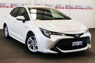 2019 Toyota Corolla ZWE211R SX E-CVT Hybrid Crystal Pearl 10 Speed Constant Variable Hatchback.
