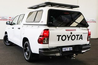 2015 Toyota Hilux TGN121R Workmate Glacier White 6 Speed Automatic Dual Cab Utility
