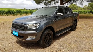 2015 Ford Ranger PX Wildtrak Double Cab Metropolitan Grey/leather 6 Speed Sports Automatic Utility