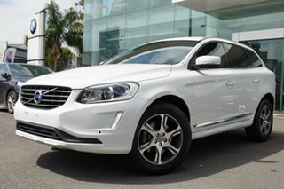 2014 Volvo XC60 DZ MY15 D5 Luxury White 6 Speed Automatic Geartronic Wagon.
