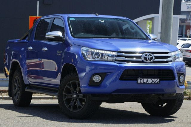 Used Toyota Hilux GUN126R SR5 Double Cab Parramatta, 2016 Toyota Hilux GUN126R SR5 Double Cab Blue 6 Speed Sports Automatic Utility