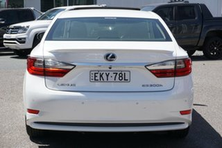 2016 Lexus ES AVV60R ES300h Luxury White 1 Speed Constant Variable Sedan