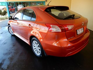 2012 Mitsubishi Lancer CJ MY12 ES Sportback Orange 6 Speed CVT Auto Sequential Hatchback