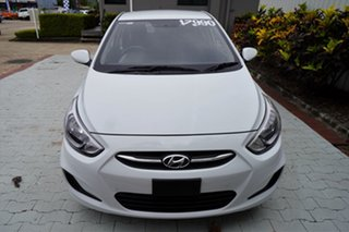 2016 Hyundai Accent RB3 MY16 Active White 6 Speed Constant Variable Sedan.