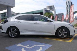 2020 Honda Civic 10th Gen MY20 VTi-LX Platinum White 1 Speed Constant Variable Sedan.