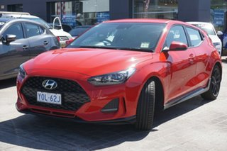 2019 Hyundai Veloster JS MY20 Turbo Coupe D-CT Ignite Flame 7 Speed Sports Automatic Dual Clutch.