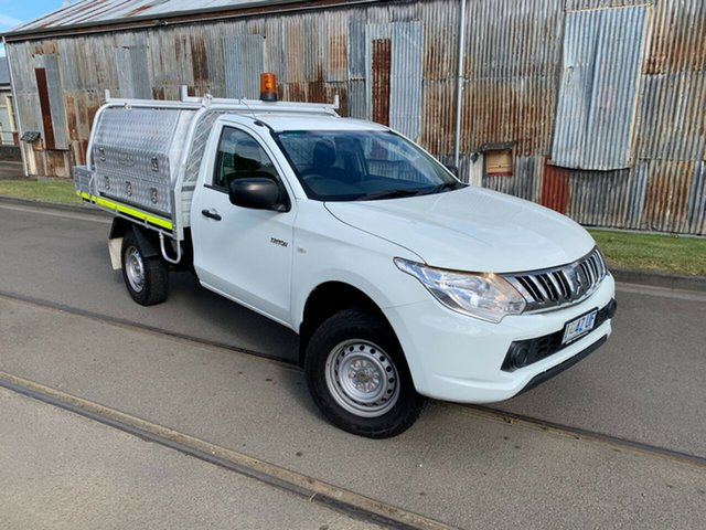 Used Mitsubishi Triton MN MY15 GL 4x2 Launceston, 2015 Mitsubishi Triton MN MY15 GL 4x2 White 5 Speed Manual Cab Chassis
