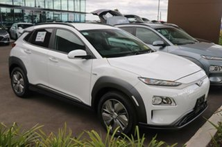 2020 Hyundai Kona OSEV.2 MY20 electric Elite Chalk White 1 Speed Reduction Gear Wagon.