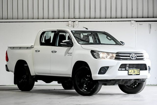 Used Toyota Hilux GUN136R SR Double Cab 4x2 Hi-Rider Laverton North, 2016 Toyota Hilux GUN136R SR Double Cab 4x2 Hi-Rider White 6 Speed Sports Automatic Utility