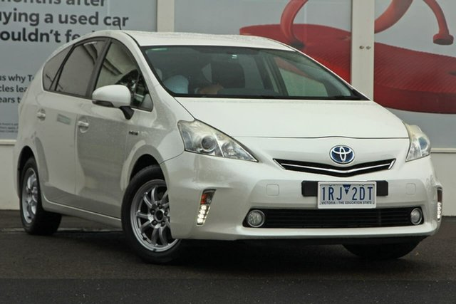 Pre-Owned Toyota Prius v ZVW40R Ferntree Gully, 2013 Toyota Prius v ZVW40R Pearl White 1 Speed Constant Variable Wagon Hybrid